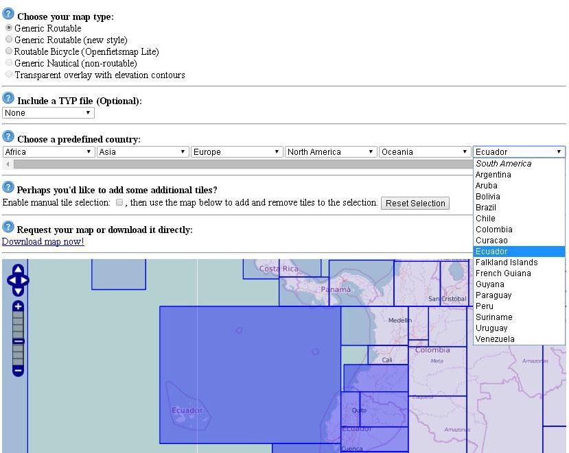 Descargar mapas para GPS Garmin