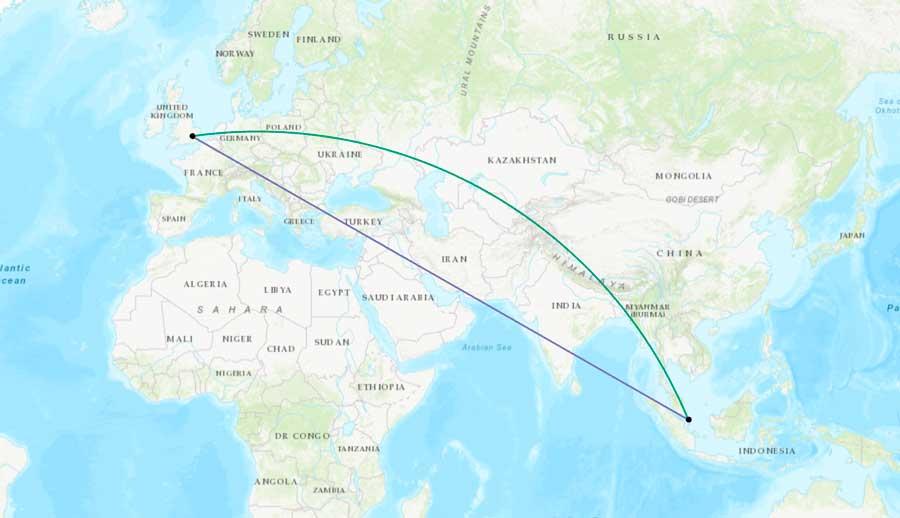 ¿Qué son las distancias geodésicas?